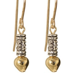 Ciquala' Gold Fill And Silver Earrings