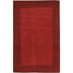 Artist's Loom Hand-tufted Casual Border Wool Rug (2'x3')