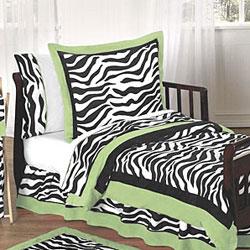 Sweet JoJo Designs Lime Funky Zebra 5-piece Toddler Bedding Set