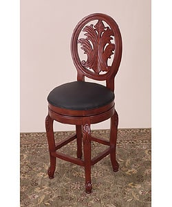 Shop Hand Carved Montgomery Swivel Counter Stool Free