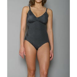 Jantzen Women's Black Polka Dot One-Piece Swimsuit
