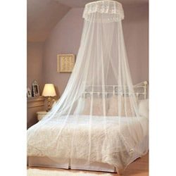 Elegant White Lace Bed Canopy/ Mosquito Net