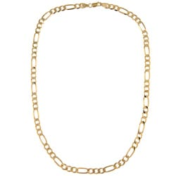 Sterling Essentials 14k over Sterling Silver 30-inch Figaro Chain