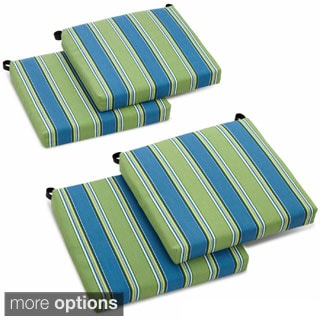 Lovely Blazing Needles 20 Inch Designer All Weather Patio Chair Cushion (Set Of 4