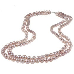 Graduated Pink Freshwater Pearl Necklace (6-11 mm)