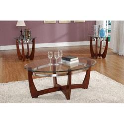 Sutton 3-piece Cappuccino Round Table Set