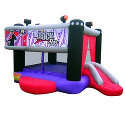 KidWise Rock Star Inflatable Bounce House - Thumbnail 0