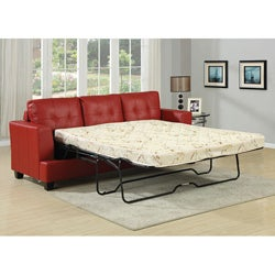 Diamond Red Bonded Leather Sleeper