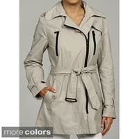 Kenneth Cole Women's Belted Front Trench