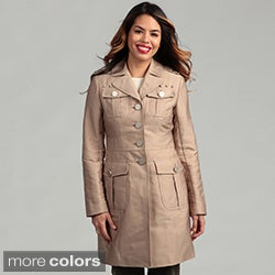Kenneth Cole Women's Front Button Coat