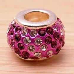Crystal Rhinestone Purple and Lavender Charm Bead