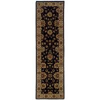 "Hand-tufted Black Wool Area Rug (2'3 x 8') - 2'3"" x 8'"