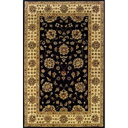 Hand-tufted Black/ Beige Wool Area Rug (3'6 x 5'6)
