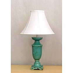 Distressed Turquoise Porcelain Table lamp