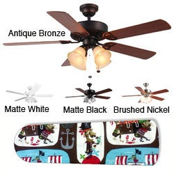 New Image Concepts 4-light Ahoy Matey Pirate Blade Ceiling Fan - Thumbnail 0