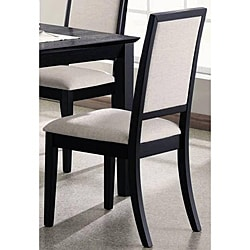Dahlia Elegant Black Frame Dining Chairs (Set of 2) - Thumbnail 0