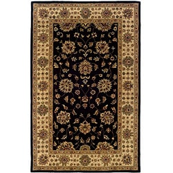 Hand-tufted Black Oriental Wool Rug (8' x 10') - 8' x 10' - Thumbnail 0