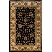 Hand-tufted Black Oriental Wool Rug - 8' x 10'