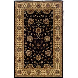 Hand-tufted Black Oriental Wool Rug (5' x 8')