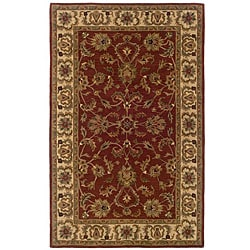 Hand-tufted Red Oriental Wool Rug (5' x 8')