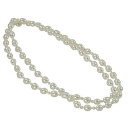 Pearls For You White FW Rice Pearl Endless Necklace (3-8 mm)