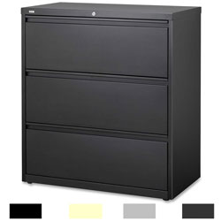 Hirsh HL10000 Series 36 inch Wide 3 Drawer Commercial Lateral File Cabinet