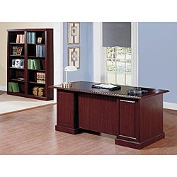Saratoga Collection Harvest Cherry Office Bookcase Suite