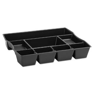 Rubbermaid Black Plastic 9-compartment Deep Drawer Organizer