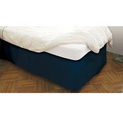 BedRiser Poplin Navy Blue 21-inch Drop Bedskirt - Thumbnail 0