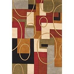 Alliyah Handmade Multi-Color New Zealand Blend Wool Rug (4' x 6')