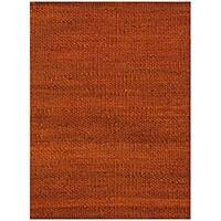 Hand-woven Rust Jute Rug (5' x 8') - 5' x 8'