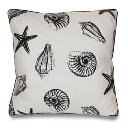 Thumbnail 1, Scattered Seashells 20-inch Decorative Pillow.