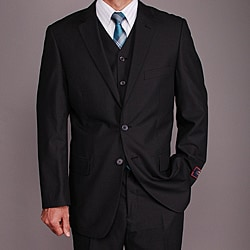 Men's Dark Grey 2-button Vested Suit