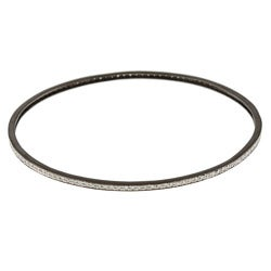 Victoria Kay Black Metal 3/4ct TDW Diamond Bangle Bracelet