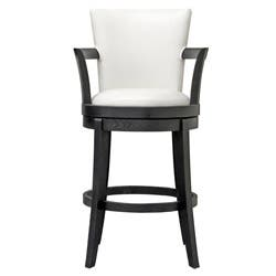 Astonishing Neptune Off White Leather Swivel Bar Stool Overstock Com Shopping The Best Deals On Bar Stools Alphanode Cool Chair Designs And Ideas Alphanodeonline
