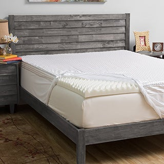 Grande Hotel Collection 4-inch Comfort Loft Memory Foam Mattress Topper with Cover