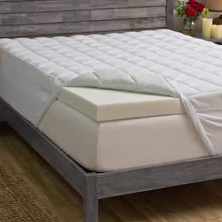 Grande Hotel Collection 3-inch Memory Foam and 1.5-inch Fiber Mattress Topper|https://ak1.ostkcdn.com/images/products/P13607650jt.jpg?impolicy=medium
