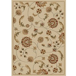 Admire Home Living Amalfi Ivory Vines  Olefin Area Rug (9'10 x 12'10)