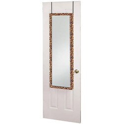 Over the Door Leopard Jewelry Mirror