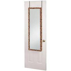 Over the Door Leopard Jewelry Mirror