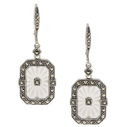 MARC Sterling Silver Marcasite and Sunray Crystal Earrings