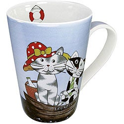 Konitz Happy Cats Friendship Mugs (Set of 4)
