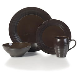Mikasa Swirl Chocolate Round 4-piece Place Setting