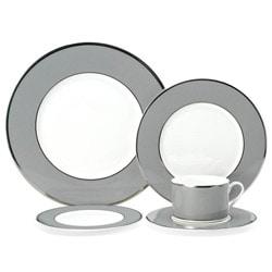 Mikasa Color Studio Grey and Platinum 5-pc Dinnerware Set - Thumbnail 0