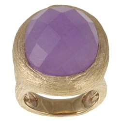 Rivka Friedman 18k Goldplated Purple Quartzite Ring