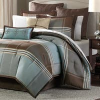 Pine Canopy Geneva Blue/Brown 8-piece Comforter Set