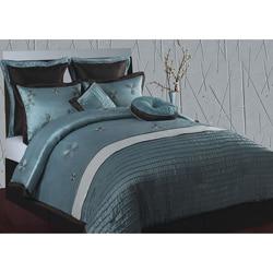 Splendor Purple and Aqua Queen-size 8-piece Comforter Set - Thumbnail 0