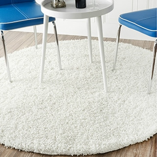 nuLOOM Alexa My Soft and Plush Multi Shag Rug (5' Round) (Option: White)