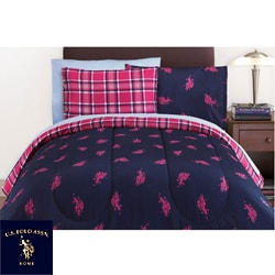 Thumbnail 1, US Polo Association Twin-size 6-piece Bed in Bag with Sheet Set.