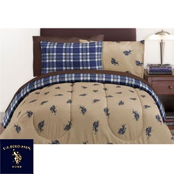 us polo association twin xl size 6 piece bed in a bag with